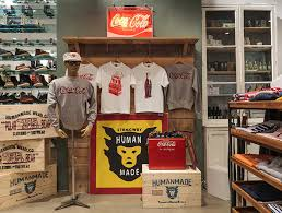 human made x coca cola display in present