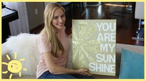 diy quote on canvas cute easy art youtube