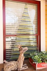 Christmas Windows Decorations Spray Make Christmas Tree Shaped Window Dowels Hgtv