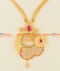 big flower necklace images Nckn116 semi precious ruby emerald stone big flower dollar jpg