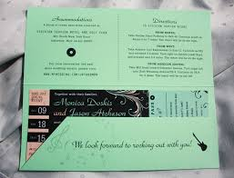 invitations that look like concert tickets