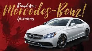 mercedes giveaway win a brand mercedes
