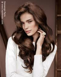sissy hairstyles feminine long hairstyle with large waves and volume