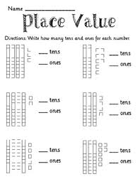 tens and units worksheets printable place value tens and ones to 50 packet place value worksheets