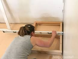 how to fix kitchen base cabinets to wall how to build base cabinets houseful of handmade