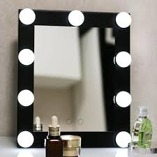 Wall Mounted Mirror With Lights Hollywood Lighted Aluminum Table Desktop Wall Mounted Cosmetic