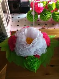 a tissue paper flower centerpiece paper flower centerpieces