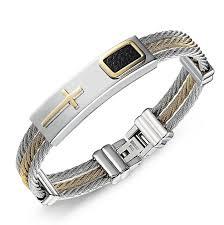 man bracelet cross images 2017 fashion gold jesus cross bracelet men jewelry stainless steel jpg
