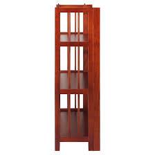 Bookcase Mahogany Folding 3 Tier Bookshelf Stackable Mahogany Target