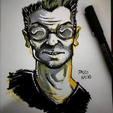 portrait face man gray pen ink sketch sketchbook u2026 flickr