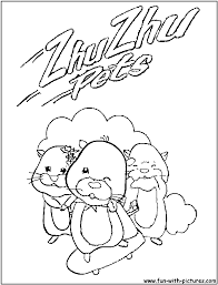 zhu zhu pets coloring pages eson me