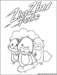 zhu zhu pets coloring pages eson