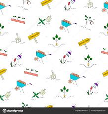 spring gardening seamless pattern u2014 stock vector elinkim 144430141