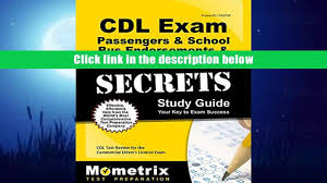 read online cdl exam secrets passengers bus endorsements