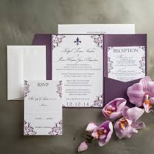 wedding invitations pocket plum flourish pocket fold wedding invitations chic