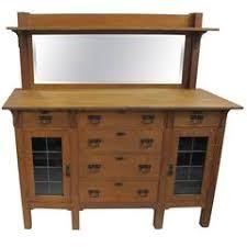 antique arts and crafts mission oak stickley bros mirror back