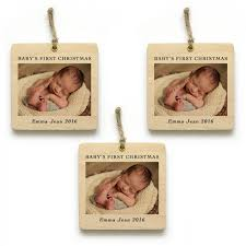 Christmas Ornaments For Baby Wood Prints For Baby U0027s First Christmas Ornaments Woodsnap Stories