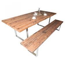 Bank Tisch Kombination Esszimmer Sitzbank Aus Massivholz Altholz Für Esstisch