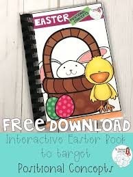 free easter speeches free speech therapy interactive book targets positional concepts