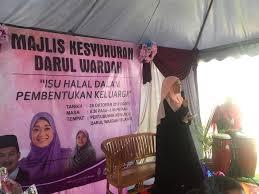 Wardah Okt 28 okt 2017 satu majlis kesyukuran darul wardah darwa