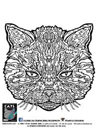 coloring pages free plicated cats printable coloring pages