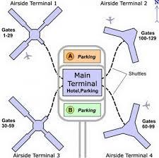 Florida Airport Map Mco Terminal Map Orlando Airport Terminal Map Florida Usa