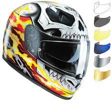 hjc motocross helmets hjc fg st ghost rider motorcycle helmet u0026 visor full face