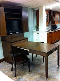 cabinet pull out kitchen table schilling wood mode hutch cabinet