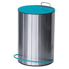 poubelle cuisine pedale poubelle à pédale ronde métal 5 litres pour salle de bain