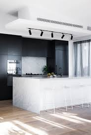 dazzling black white kitchen for apartment design inspiration