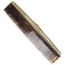 vintage comb antique sterling silver engraved comb tortoise