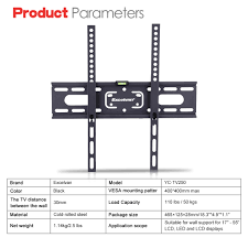 samsung tv wall mount kit lcd led flat tilt tv wall mount bracket for samsung tcl hp sony