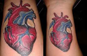 double heart tattoo designs for women big heart tattoo 27