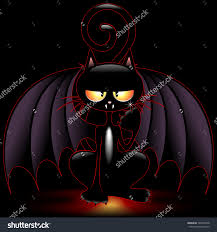 halloween bat cat funny cartoon stock vector 148525298 shutterstock