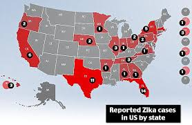 map of usa zika third zika victim confirmed in tennessee as total number of cases