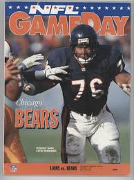 lions thanksgiving day game 1993 detroit lions game programs 11 25 vs chicago bears