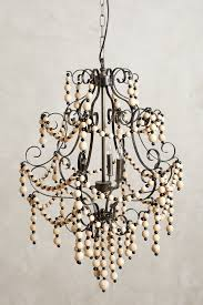 beaded crystal chandelier wooden sidi chandelier anthropologie