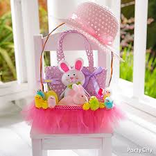 decorating easter baskets easter basket tutu idea party city party city