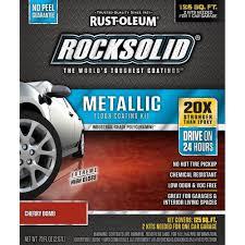 amazon com rust oleum rocksolid cherry bomb metallic garage floor