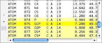 format file atom pdb file format module highlighting the selected atoms in jmol