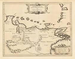 Map Of Venezuela Antique Map Of Venezuela By De Laet Hjbmaps Com U2013 Hjbmaps Com