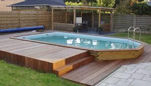 piscine hors sol bois rectoo m2 7 60 x 3 90 m h 1 33 m