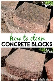 Patio Cleaning Tips How To Clean Concrete Blocks Clean Concrete Concrete And