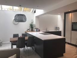 graphite and dove grey kitchen fitted in st albans hertfordshire