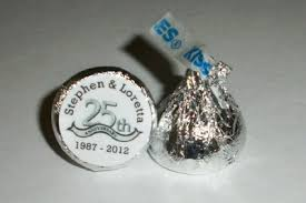 anniversary favors 216 silver anniversary 25th wedding anniversary favors hershey