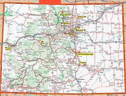 United States Of America State Map by Detailed Roads And Highways Map Of Colorado State Colorado State