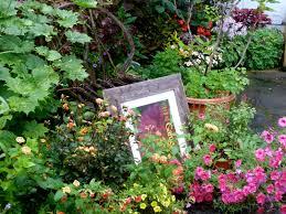 gorgeous backyard design with big rock garden ideas and several