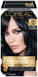saphire black hair l oreal paris superior preference fade defying color shine