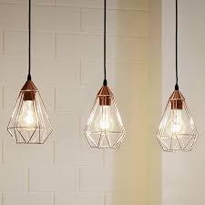 pendelleuchte design design hänge leuchte retro shabby vintage kupfer pendel le