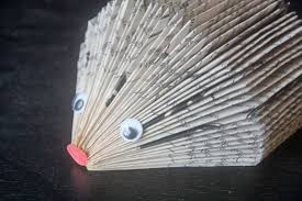 Book Paper Folding - upcycle folded book hedgehog factory direct craft